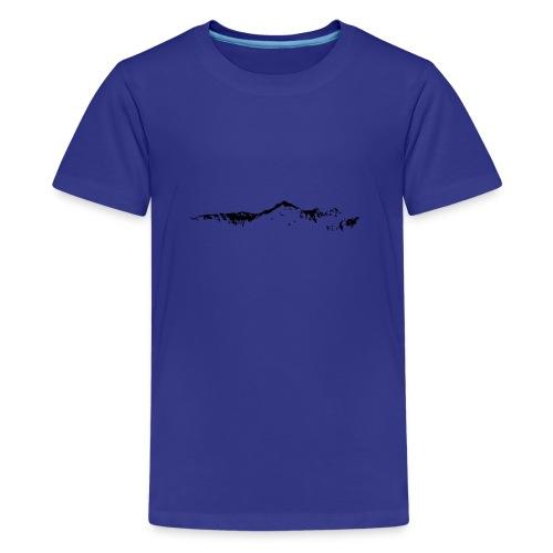 Falknis Bergkette - Teenager Premium T-Shirt