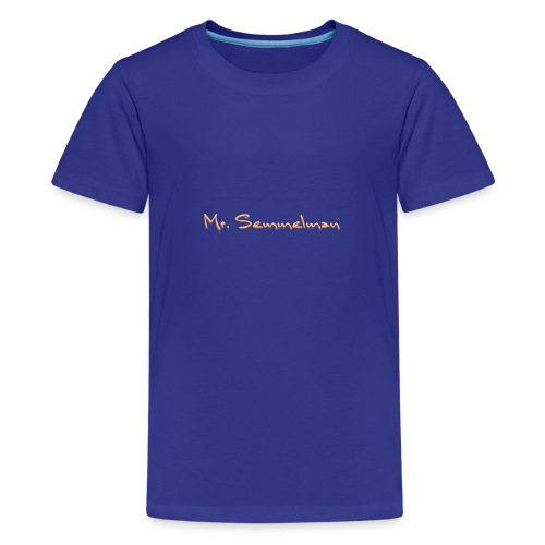 Mr Semmelman text - Premium-T-shirt tonåring
