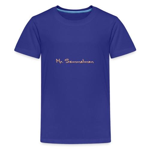 Mr Semmelman text - Premium-T-shirt tonåring