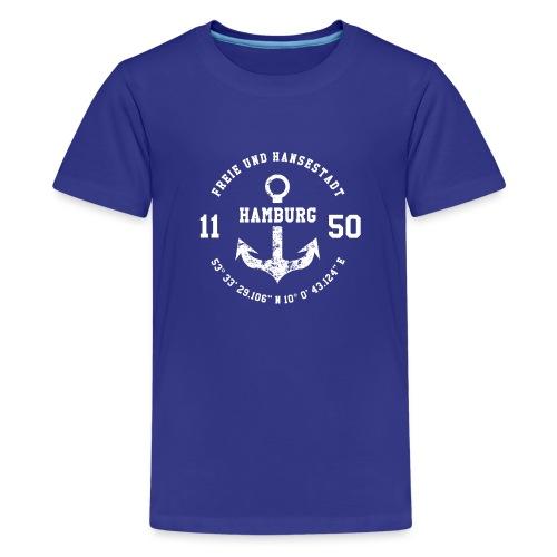 Freie und Hansestadt Hamburg 1150 weiss - Teenager Premium T-Shirt