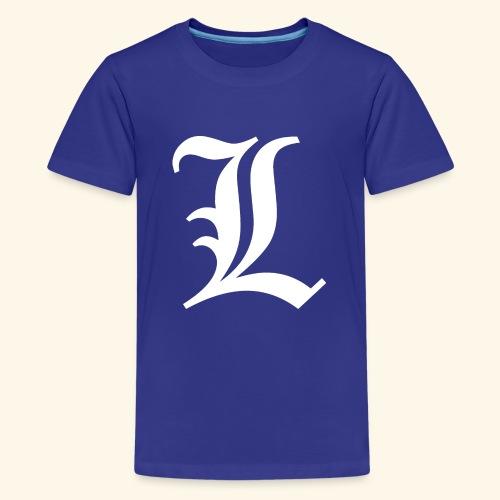 Diseño Tipo Death Note - Camiseta premium adolescente