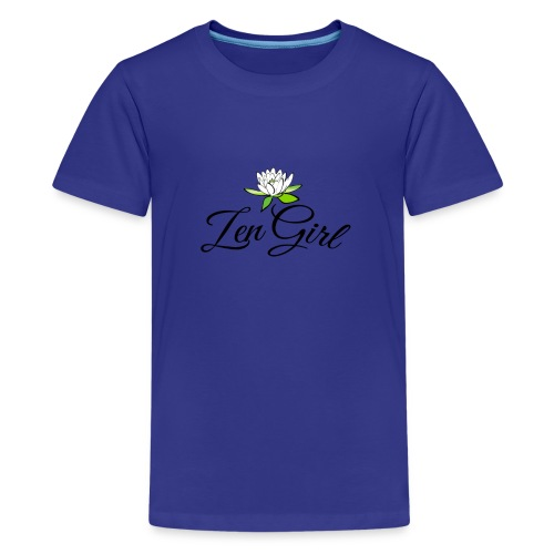 zengirl with lotusflower for purity in life - Premium-T-shirt tonåring