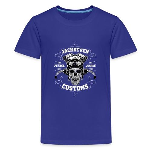 Chopper Bobber Motorrad Rocker Skull Totenkopf - Teenager Premium T-Shirt