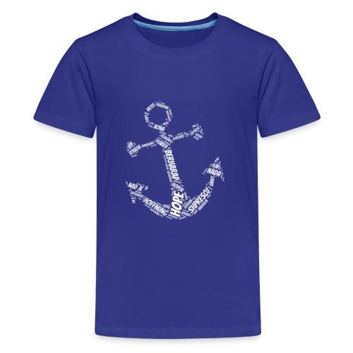 Hoffnung International Anker Symbol - Teenager Premium T-Shirt
