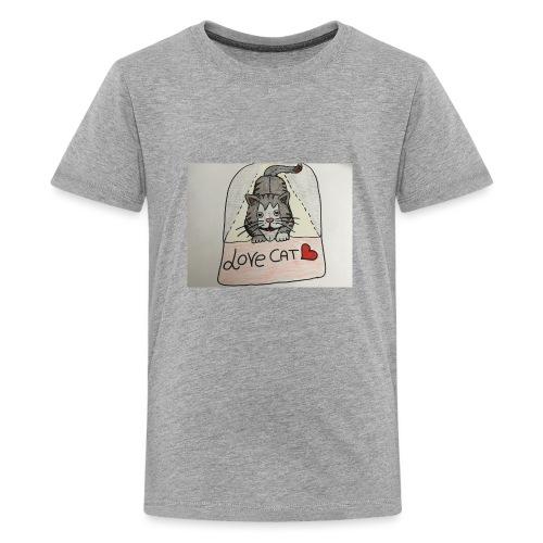Love cat - Maglietta Premium per ragazzi