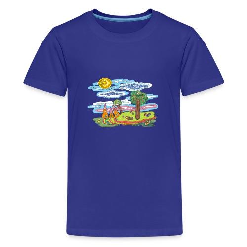 Paysage fantastique - T-shirt Premium Ado