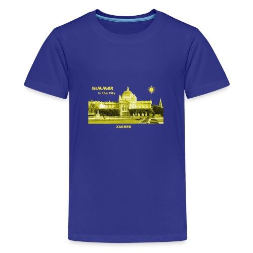 Sommer Zagreb Kroatien Istrien Nationaltheater - Teenager Premium T-Shirt