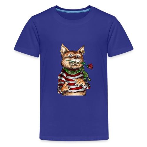 T-shirt - Crazy Cat - T-shirt Premium Ado