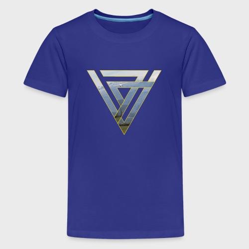 Triangle Plane - Teenager Premium T-Shirt