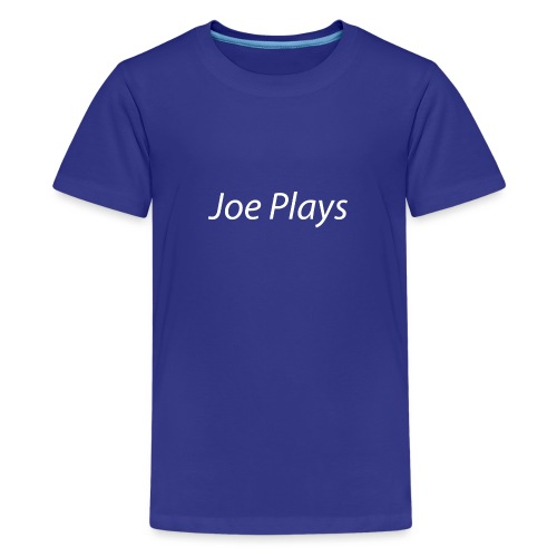 Joe Plays White logo - Premium T-skjorte for tenåringer