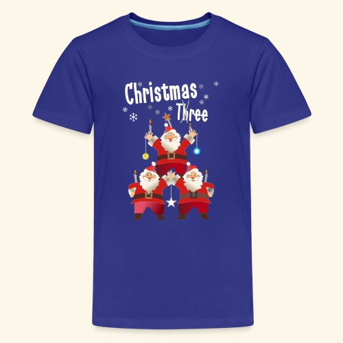 Christmas Three Weihnacht Baum drei - Teenager Premium T-Shirt
