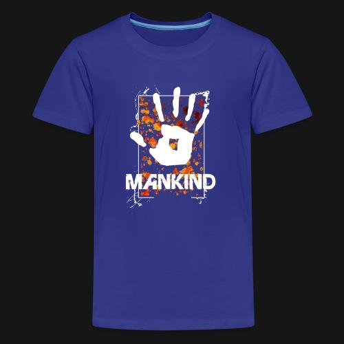 Mankind splatter design hand - Teenage Premium T-Shirt