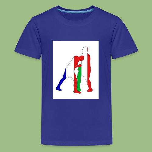 Zidane and Materazzi - Premium-T-shirt tonåring