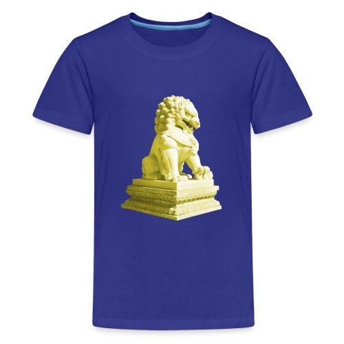 Fu Hund Tempelwächter Wächterlöwe Buddha China - Teenager Premium T-Shirt