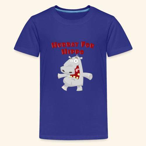 Toddlers & Kids Happy Hippo T Shirt - Teenage Premium T-Shirt
