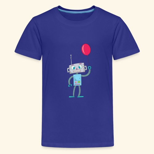 Cute Robot Kids Tees - Teenage Premium T-Shirt