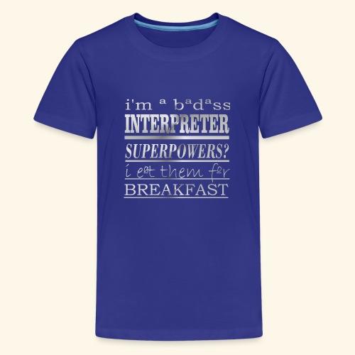 INTERPRETER - Maglietta Premium per ragazzi