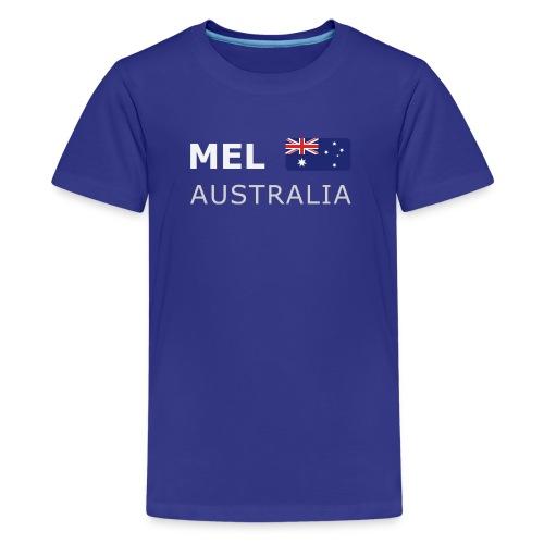 MEL AUSTRALIA white-lettered 400 dpi - Teenage Premium T-Shirt