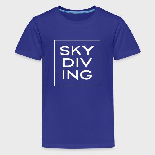 SKY DIV ING White - Teenager Premium T-Shirt