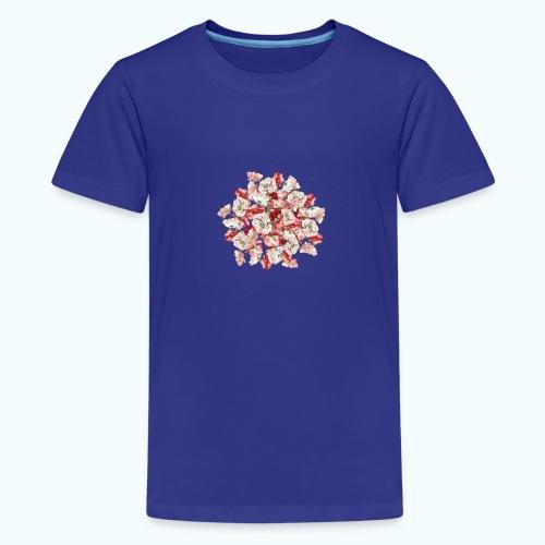Hippie Aquarell Blumen - Teenage Premium T-Shirt