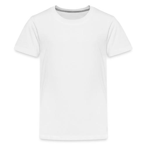 Chihuahua istuva valkoinen - Teinien premium t-paita