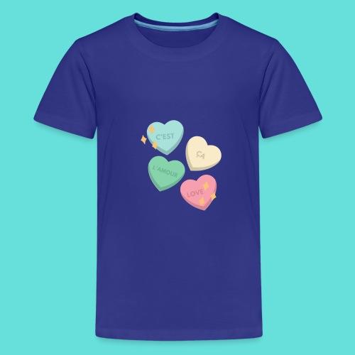 C'est ça l'amour, love - T-shirt Premium Ado
