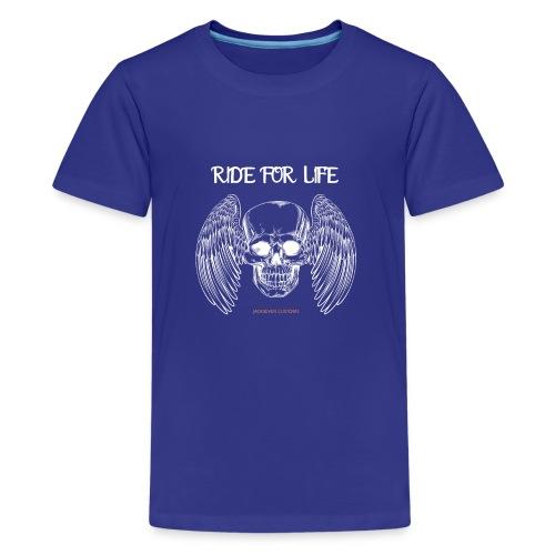 ride for life skull - Chopper - Bobber - Skull - Teenager Premium T-Shirt