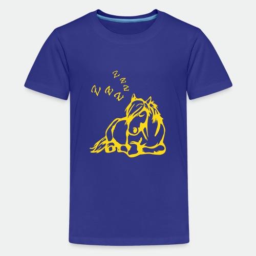 ZZZ Schlafendes Pferd - Teenage Premium T-Shirt