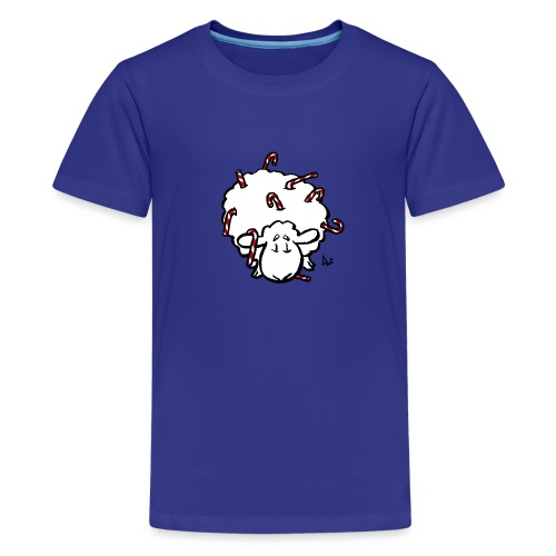 Candy Cane Sheep - Teenage Premium T-Shirt