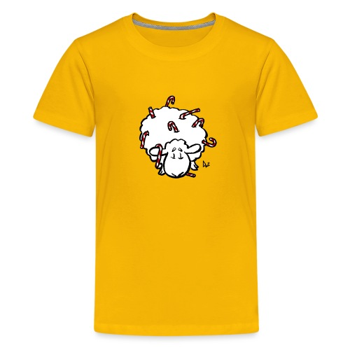 Candy Cane Sheep - Teenage Premium T-Shirt