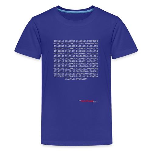 Nutteloos binair - Teenager Premium T-shirt