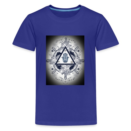 Artsy design with spiritual/meaningful add ons. - Teenage Premium T-Shirt