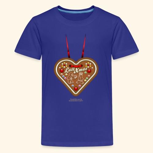 Ugly Christmas Design Last Xmas für Weihnachten - Teenager Premium T-Shirt