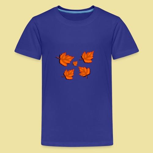 Herbstblätter - Teenager Premium T-Shirt