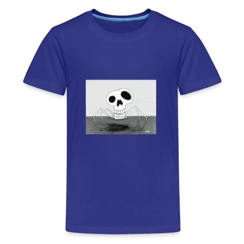 skull spider - Premium-T-shirt tonåring