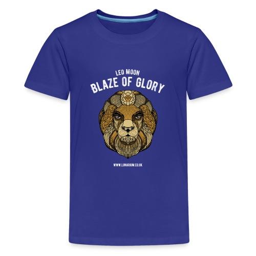 Leo Moon Dark - Teenage Premium T-Shirt