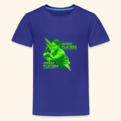 Tischtennis Mädchendesign Konzetration - Teenager Premium T-Shirt