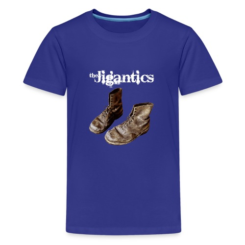 The Jigantics boot logo - white - Teenage Premium T-Shirt