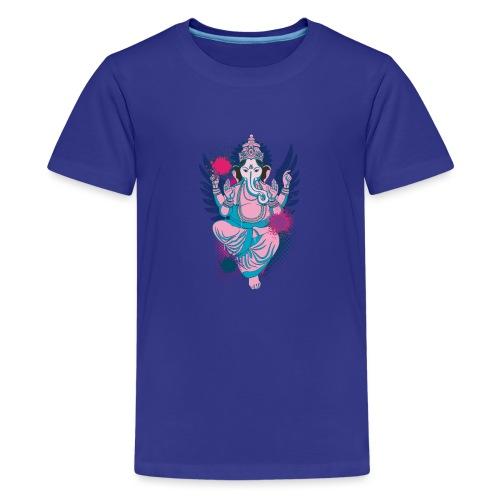 Ganesha dein Glücksgott macht den WEG frei - Teenager Premium T-Shirt