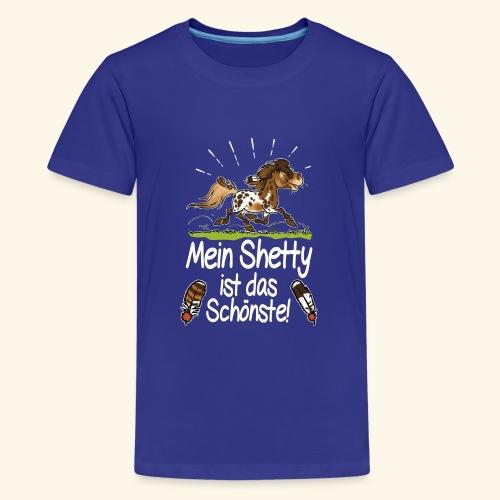 Mein Shetty das Schönste (Text weiss) - T-shirt Premium Ado