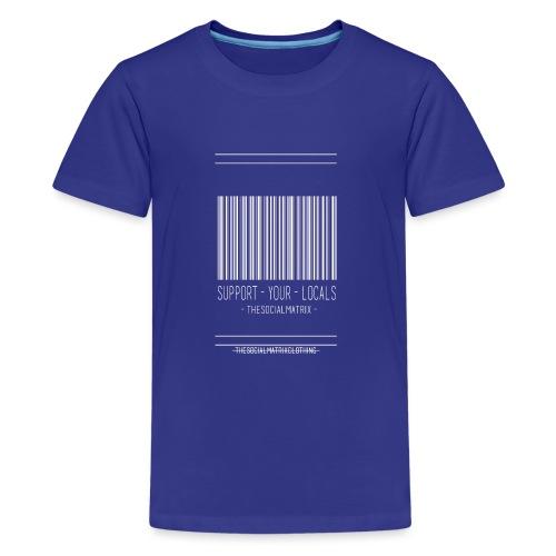 STEUN JE PLAATSELIJKE [WIT] - Teenager Premium T-shirt