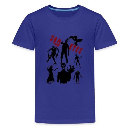 Zombies - Teinien premium t-paita