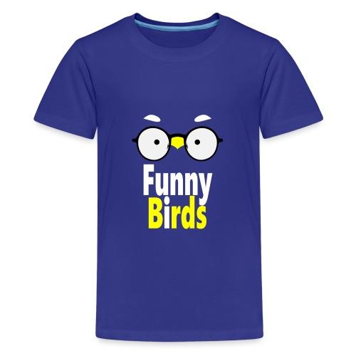 Funny Birds - Teinien premium t-paita