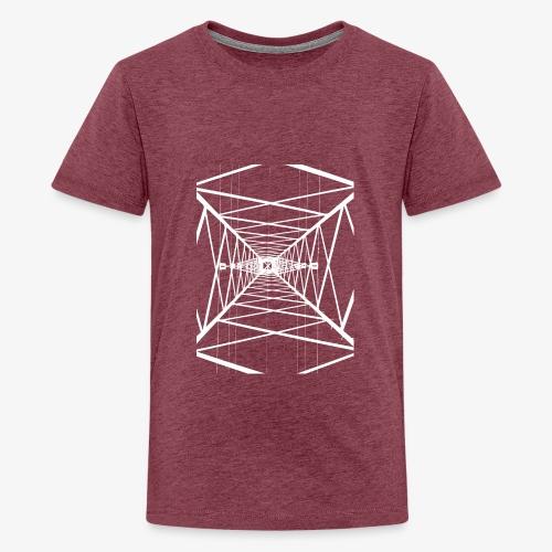 Hochmast V2 Weiß - Teenager Premium T-Shirt