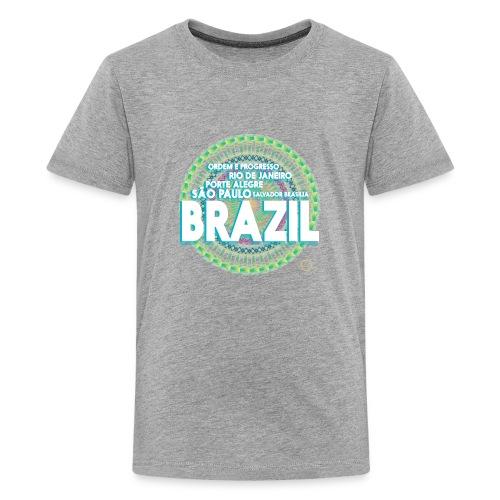 Lemon Brazil Mandala - T-shirt Premium Ado