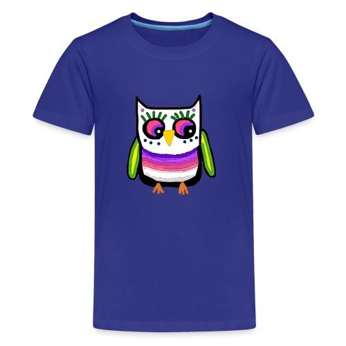 Colorful owl - Teenage Premium T-Shirt