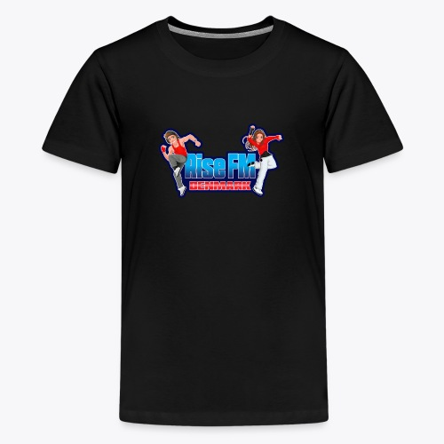 Rise FM Denmark Full Logo - Teenager premium T-shirt
