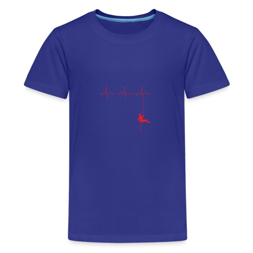 Love Rappelling ECG - Teenage Premium T-Shirt