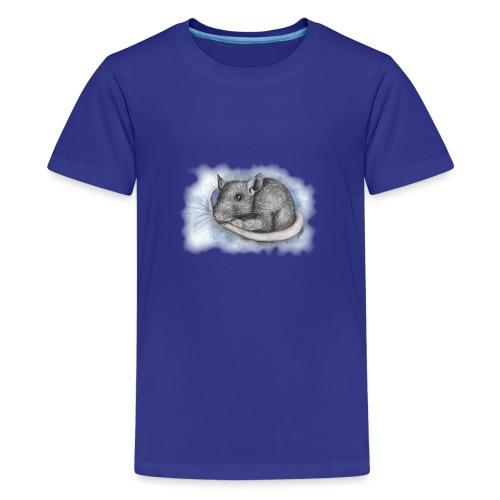 Rottapiirros - Värikuva - Teinien premium t-paita