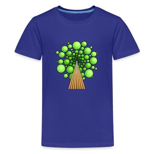 Kugel-Baum, 3d, hellgrün - Teenager Premium T-Shirt